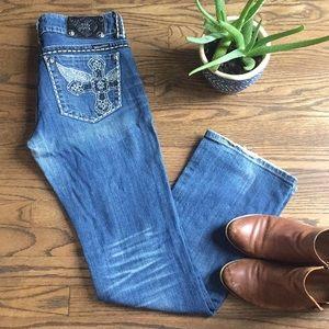 Miss Me boot cut blue jeans, size 29